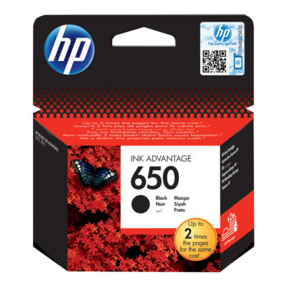 HP 650 Black Original Ink Advantage Cartridge