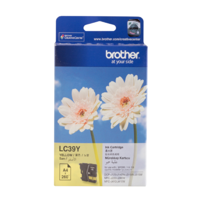 Brother LC39-Y Original Yellow Ink Cartridge