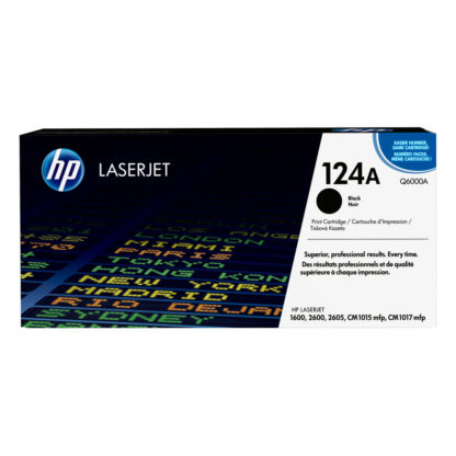 Original HP 124A Black Laser Cartridge